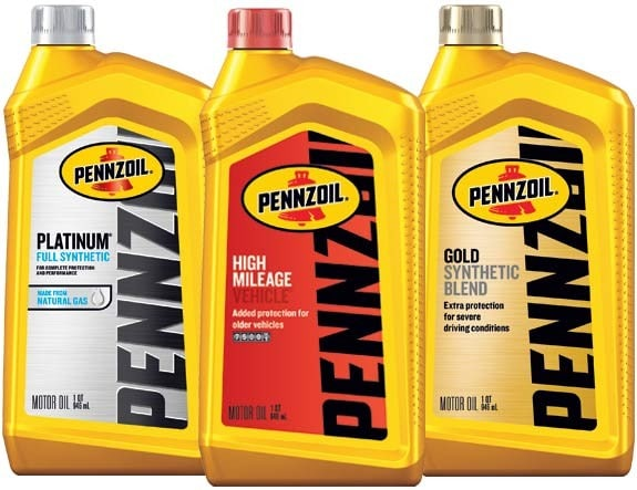 Pennzoil motor oil lineup