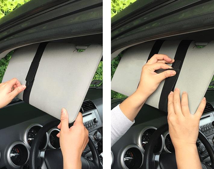 Step 5 - Making your own car sun visor extender