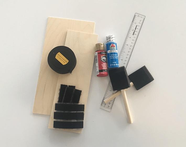 DIY car sun visor extender, supplies