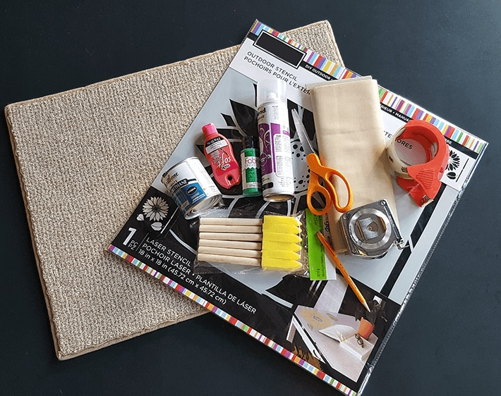 Materials for DIY holiday car floormats