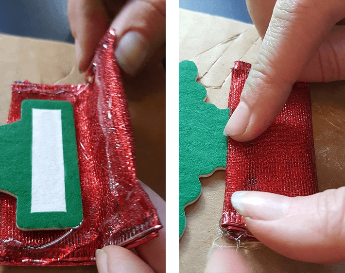 Creating tree skirt with ribbon for car air freshener