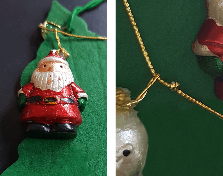 Decorating car air freshener with little ornaments