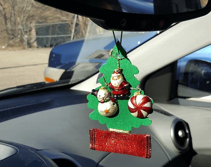 Hang your Christmas tree car air freshener