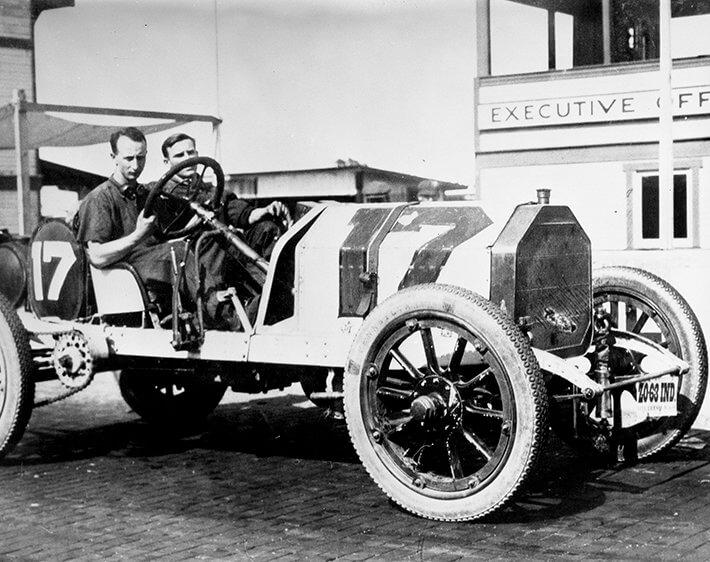 Thin Indy car tires circa 1911