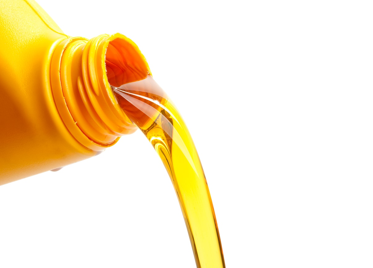 image of oil being poured